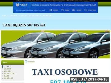 Zrzut strony Taxi Będzin 507105424 lub 501179406