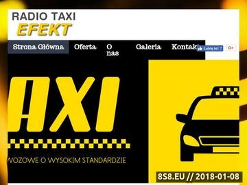Zrzut strony Radio Taxi Efekt - przewóz przesyłek