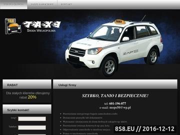 Zrzut strony Taxi Środa Wielkopolska