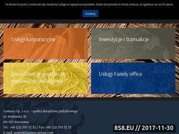 Zrzut strony Kancelaria - podatki Warszawa