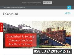 Thumbnail of T Carter Ltd - Chimney Lining Specialists Website