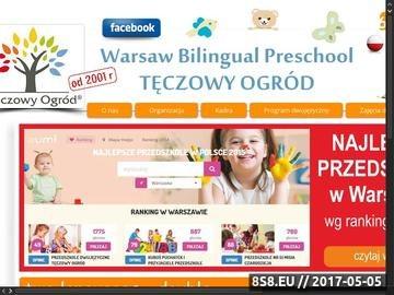 Zrzut strony Tęczowy ogród - dwujęzyczna szkoła podstawowa