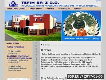 Zrzut strony Opakowania papierowe - Tefim Spółka z o. o.