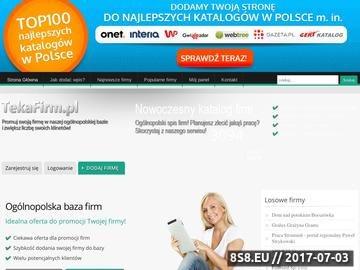 Zrzut strony Ogólnopolska baza firm
