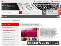 Miniaturka domeny www.tekstyliadomowe.e-trade24.pl