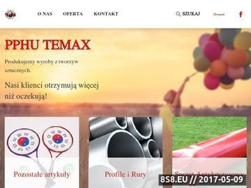 Zrzut strony Profile z tworzyw sztucznych