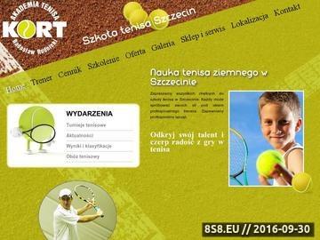 Zrzut strony Szkoła tenisa Szczecin