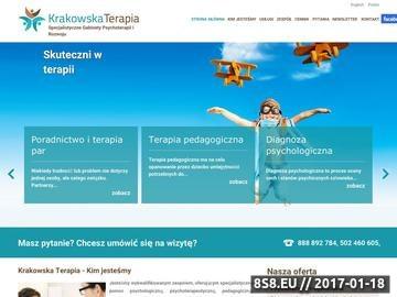 Zrzut strony Krakowska Terapia - psycholog, psychoterapeuta i psychiatra Kraków