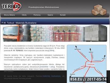 Zrzut strony P.W. Terbud - Materiały Budowlane - Koteże, Starogard Gdański