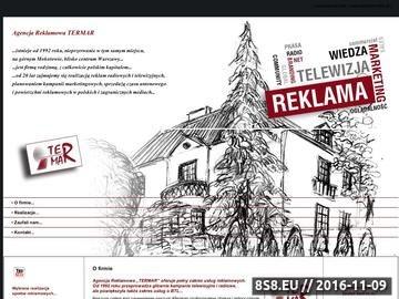 Zrzut strony Reklamy TERMAR - kampania reklamowa