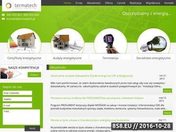 Zrzut strony Termatech - termowizja, audyty energetyczne Bydgoszcz