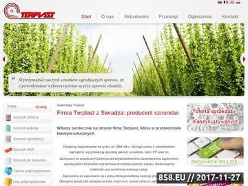 Zrzut strony Terplast sp. z o.o.  - producent lin