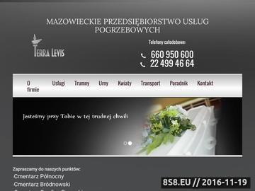 Zrzut strony Trumny Warszawa Powązki