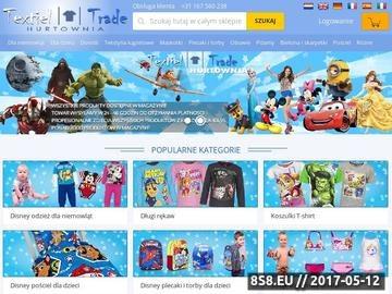 Zrzut strony Hurtownia odzieży dziecięcej Disney