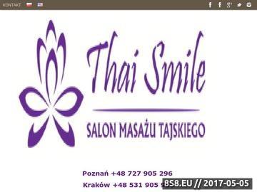 Zrzut strony Salon Masażu Tajskiego w Poznaniu - Thai Smile