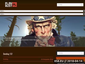 Zrzut strony The Rust Polska - Strona społeczności gry Rust