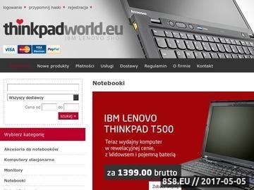 Zrzut strony Sklep internetowy z laptopami - ibm, lenovo, dell