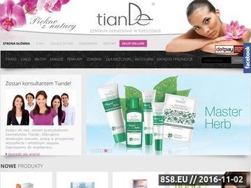 Zrzut strony Kosmetyki naturalne firmy Tiande