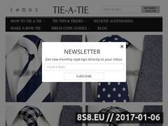 How to Tie a Tie Website