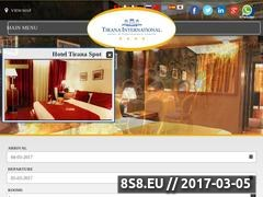 Thumbnail of Tirana International Hotel Website