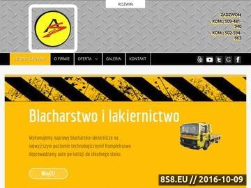 Zrzut strony Pomoc drogowa, auto serwis oraz holowanie