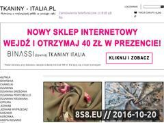 Miniaturka domeny www.tkaniny-italia.pl