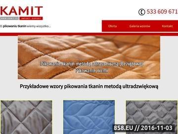 Zrzut strony Pikowanie tkanin, pikówka Łódź