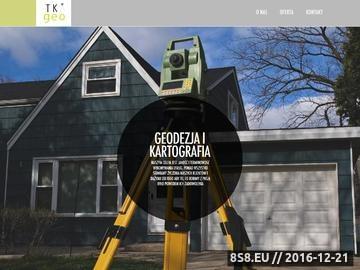 Zrzut strony Usługi geodezyjne Warszawa