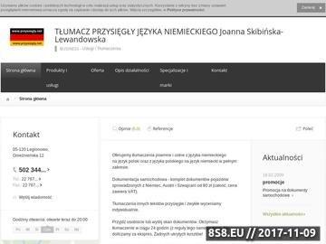 Zrzut strony Tłumacz przysięgły niemiecki (Poznań centrum)