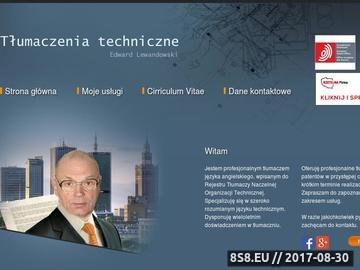 Zrzut strony Tłumaczenia techniczne - specjalistyczne tłumaczenia