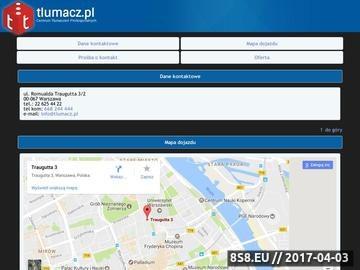 Zrzut strony Centrum tłumaczeń profesjonalnych Tlumacz.pl