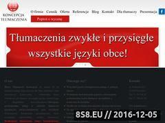 Miniaturka domeny www.tlumaczenia-koncepcja.pl