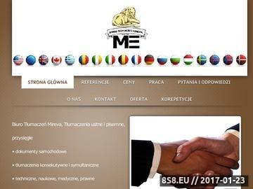 Zrzut strony Usługi tłumaczeniowe