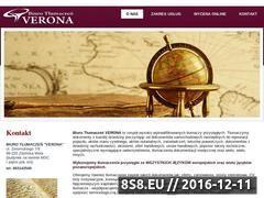 Miniaturka domeny www.tlumaczenia-verona.pl