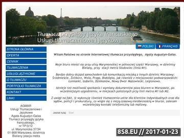 Zrzut strony Tlumaczeniafrancuski.waw.pl - tłumacz Warszawa