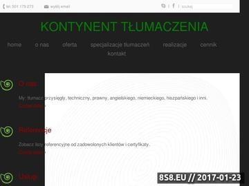 Zrzut strony Tlumaczeniakontynent.pl