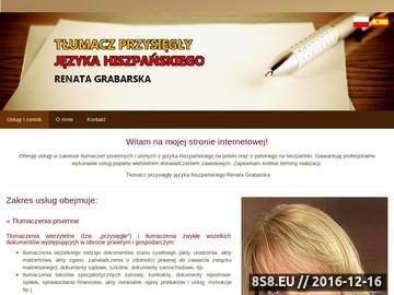 Zrzut strony R. Grabarska - tłumaczenia pisemne