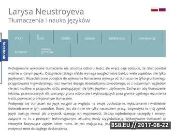Zrzut strony Tłumacz języka rosyjskiego - Tlumacznarosyjski.pl
