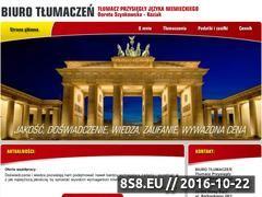 Miniaturka domeny tlumacznowysacz.pl