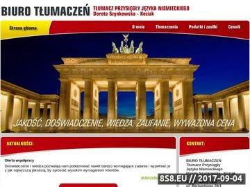 Zrzut strony Tłumacz niemieckiego Nowy Sącz