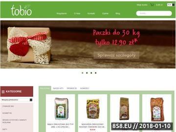 Zrzut strony Sklep internetowy ze zdrową żywnością