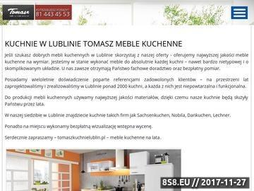 Zrzut strony Kuchnie na miarę - Meble Tomasz