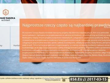 Zrzut strony Architekt Bielsko, Skoczów oraz Cieszyn