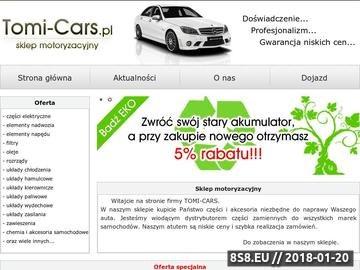 Zrzut strony Tomi-Cars.pl