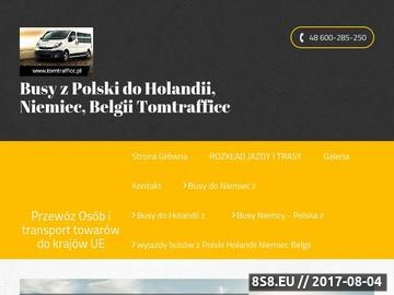 Zrzut strony Busy z Olsztyna do Niemiec