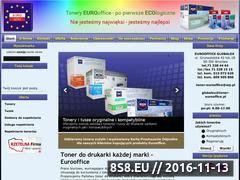 Miniaturka domeny www.toner-eurooffice.pl