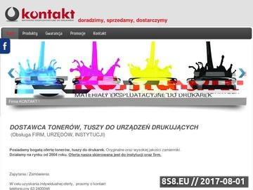 Zrzut strony Tonery-Kontakt