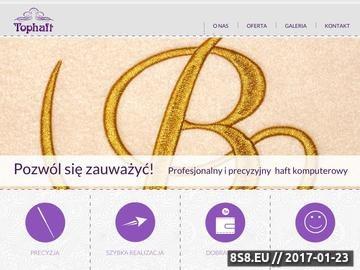 Zrzut strony Oferta haftu komputerowego na odzieży roboczej i promocyjnej