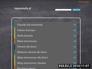Zrzut strony Odzież dziecięca topowamoda.pl