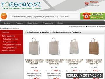 Zrzut strony Sklep internetowy z torbami reklamowymi - Torbowo.pl